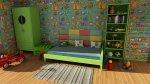 łóżko w pokoju dziecka